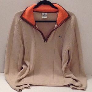 😎 Lacoste - Men's 'Latte' Pullover Men's Sweater